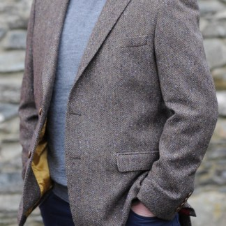 Ballyclare Herringbone Donegal Tweed Jacket