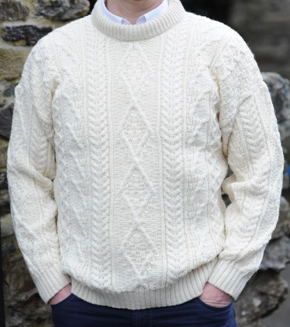 Innismor Irish Aran Sweater Natural