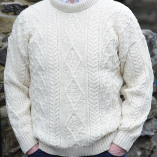 Innismor Irish Aran Sweater Natural