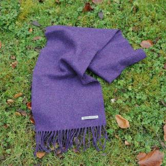 Purple Heather Tweed Scarf