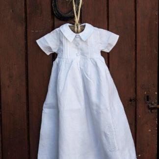 Celtic Cross Short Sleeve Christening Gown