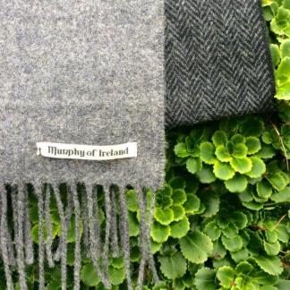 Charcoal Mist Tweed Scarf