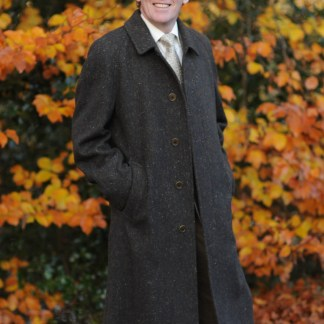 Connemara Tweed Overcoat Irish Bracken