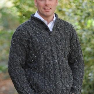 Finn Aran Sweater Charcoal