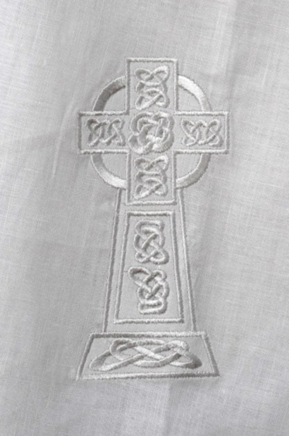 Kinsale Cloak Celtic Cross embroidery