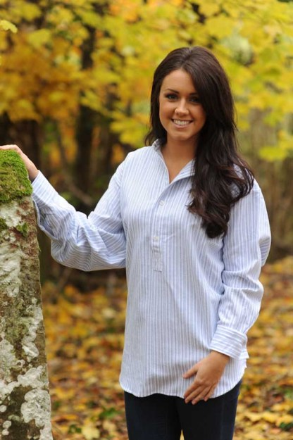 Ladies Grandfather Shirts Classic Blue