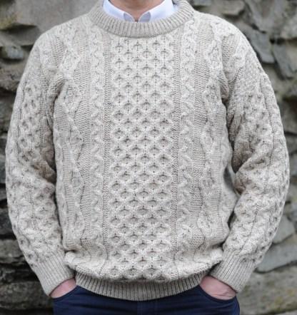 Legacy Irish Aran Sweater Sandstone Fleck