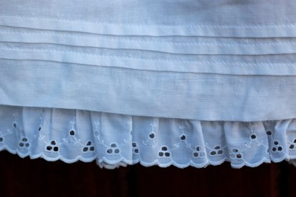 Pearls and Rosebuds Christening Gown Detail