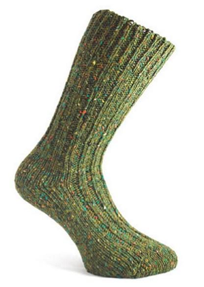 Donegal Tweed Sock Fern Green