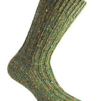 Donegal Tweed Sock Fern Green