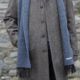 Dublin Herringbone Donegal Tweed Overcoat Bracken