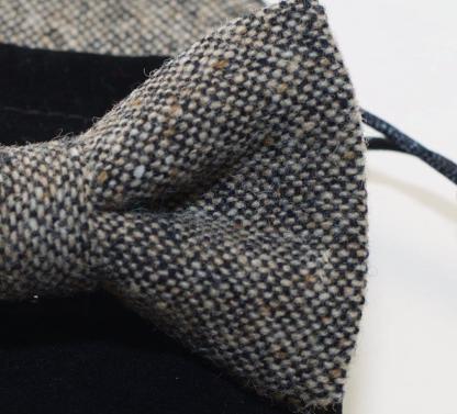 Donegal Tweed Bow Tie Oakwood Detail