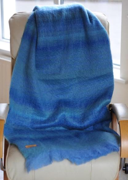 Bantry Bay Blue Mohair Throw