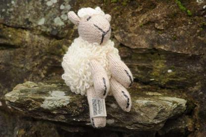 Handknit Sean the Sheep