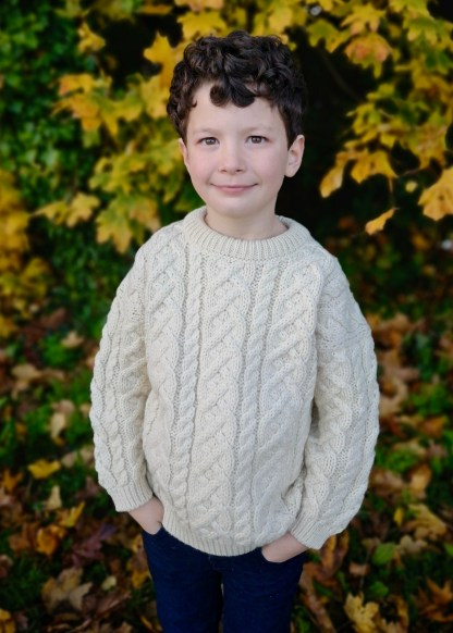 Childrens Heavyweight Aran Sweater