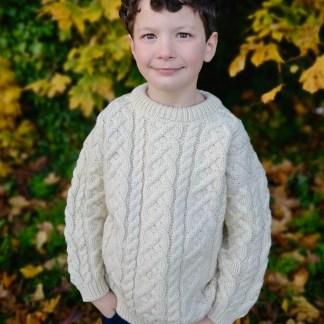 Childrens Heavyweight Aran Sweater