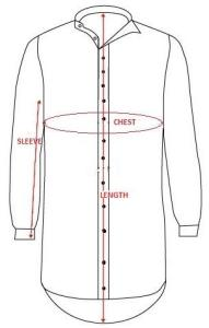 Grandfather Shirt Size Chart Full Length Button