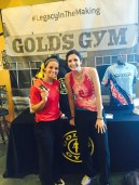 Larry does free weights and prep for upcoming USO MudRun. Thanks, Sarah of Gold's Gym.