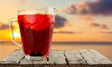 Sangria drink fruit soft punch refresh refreshing