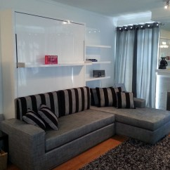Murphy Bed In Small Living Room Crystal Table Lamps For Wall Sofa Combination From Murphysofa Gas Mechanism Slatted Base Sectional Folds Over Perfectly Balanced