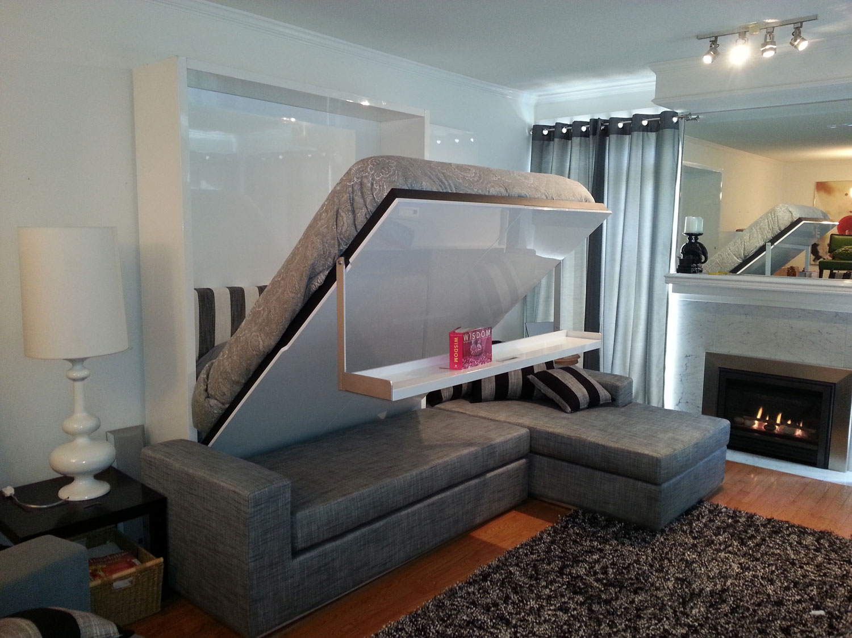 Wall Bed Sofa Combination From Murphysofa Gas Mechanism