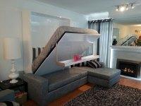 Wall bed sofa combination from MurphySofa -Gas mechanism ...