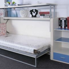 Diy Murphy Bed Over Sofa Best Leather Cleaner Wall Desk Units From Murphysofa. Balances Items On The ...