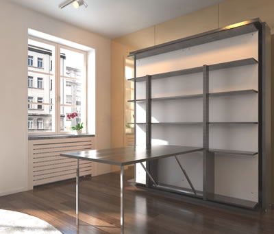 twin pull out sofa cama matrimonial costa rica italian wall bed - revolving bookcase murphysofa smart ...