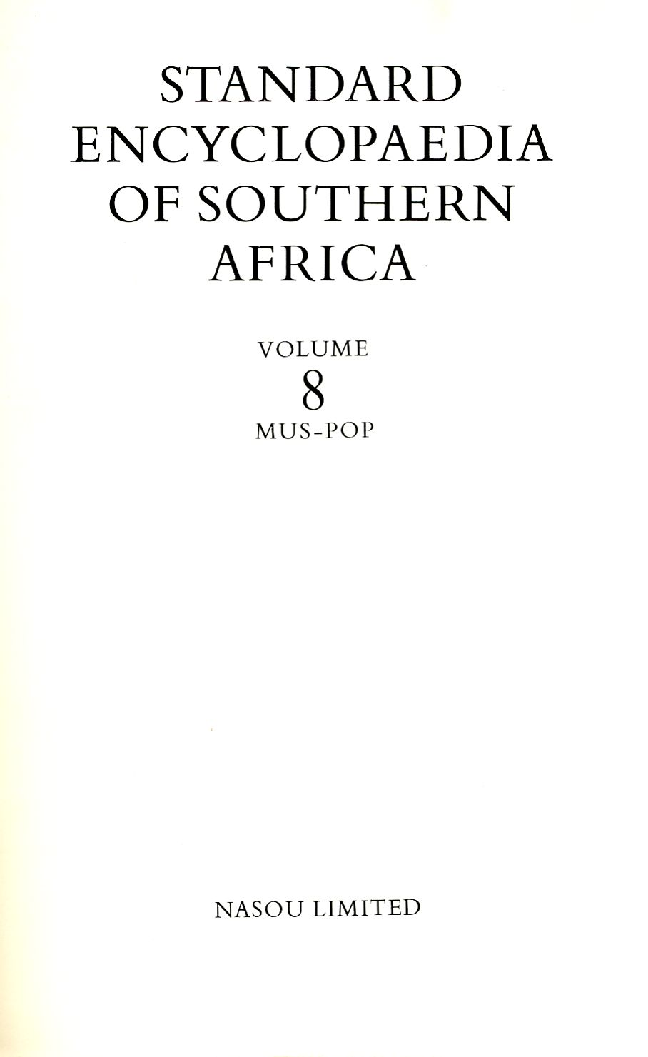 Title page of SESA Volume 8 which has the SA Navy article
