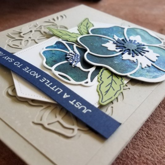 Blue Poppy with blue sentiment