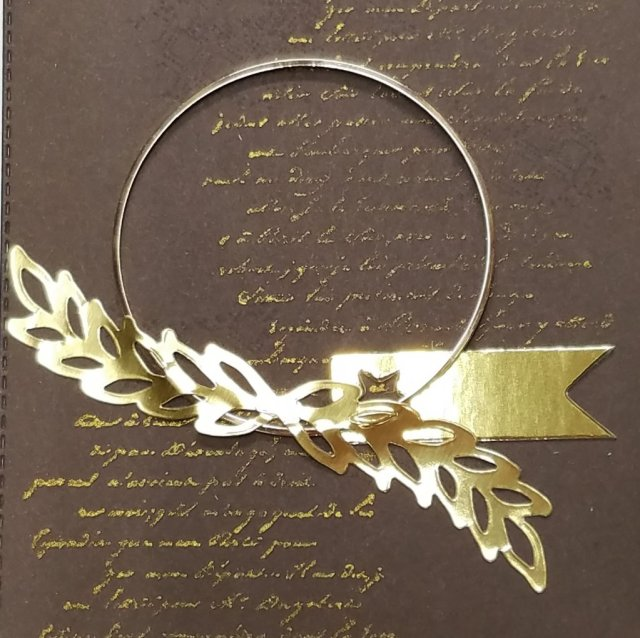 attach gold hoop with gold foil stickers from Paper Pumpkin kit