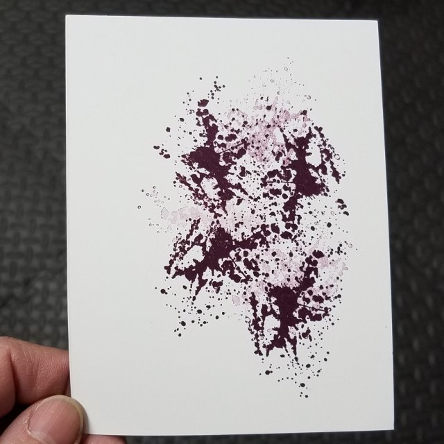 splatter stamp background