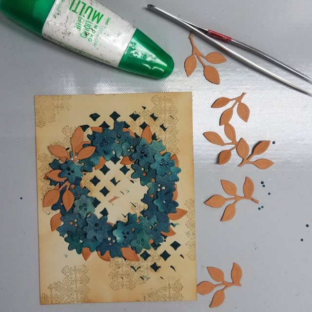 layering a wreath