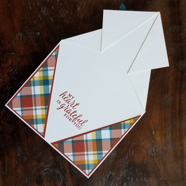 inside look at arrow fold card