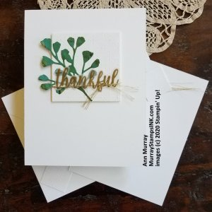 embossed square with simple die-cut image and sentiment