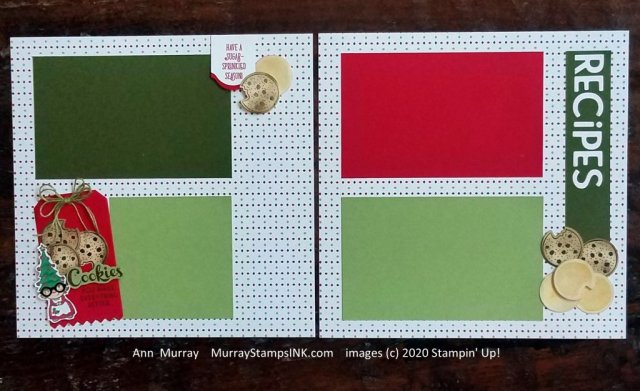 scrapbook pages for cookie baking at Christmas