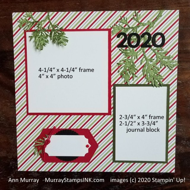 Scrapbook page for 2020 holiday decorating