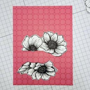 second arrangement of fussy cut images