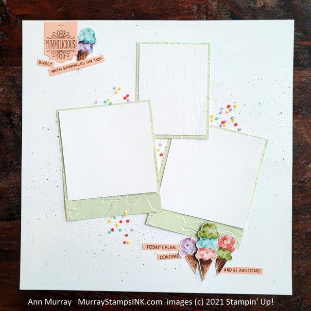 Ice Cream Theme scrapbook page
