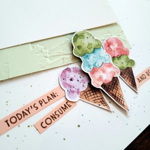 cut out ice cream cones layered with sentiment