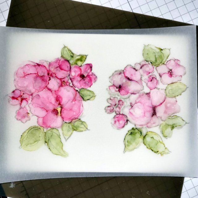 STEP 4 - alcohol ink painting