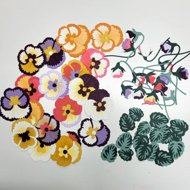 pile of assorted pansies in a variety of colors