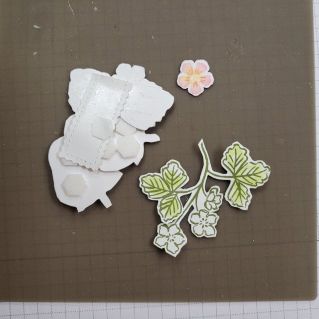 Strawberry theme scrapbook layout how to make an embellishment bundle
