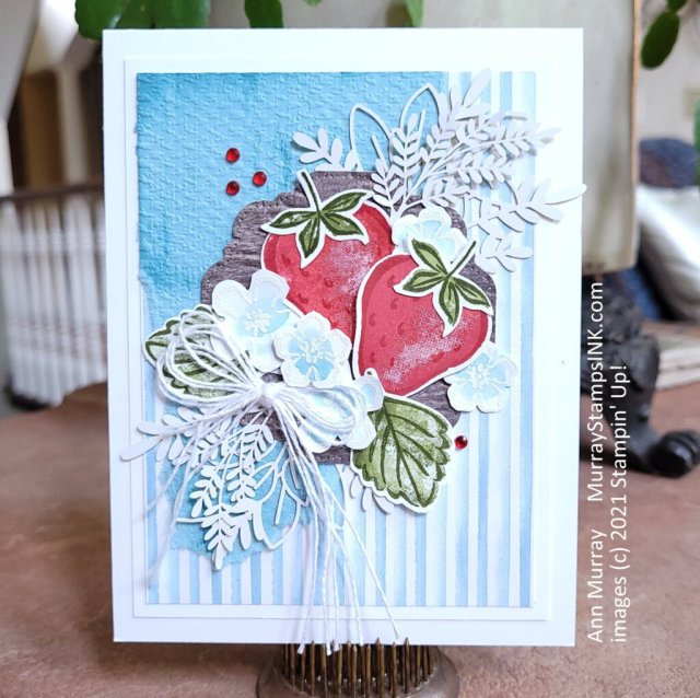 Sweet Strawberry card with multiple layers