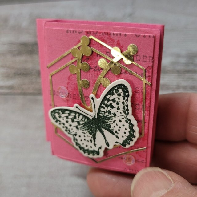 small post-it cover using Nature;s Thoughts butterfly