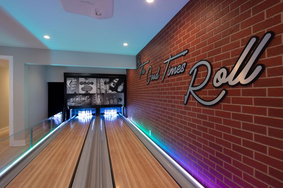 Basement Home Bowling Alley