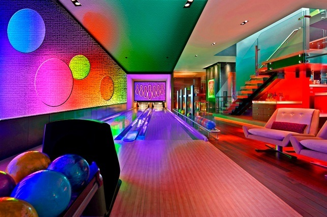 home bowling lanes, in home bowling alley