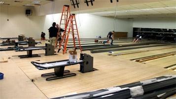 Bowling center modernization