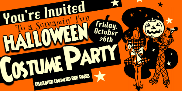 banner costume party flyer
