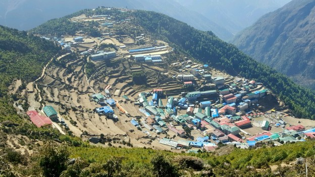 Namche Bazaar, Musa's home and where she starts her trek!
